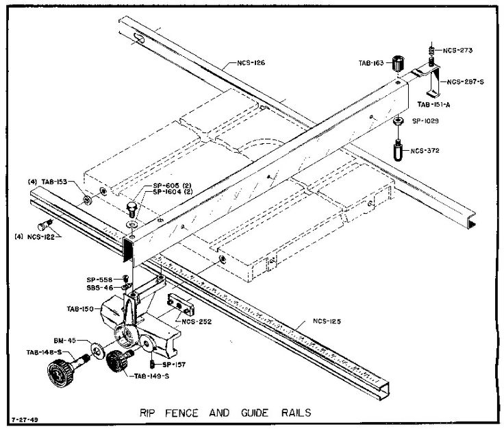 Delta table saw parts full size rip fence diagram gorgeous