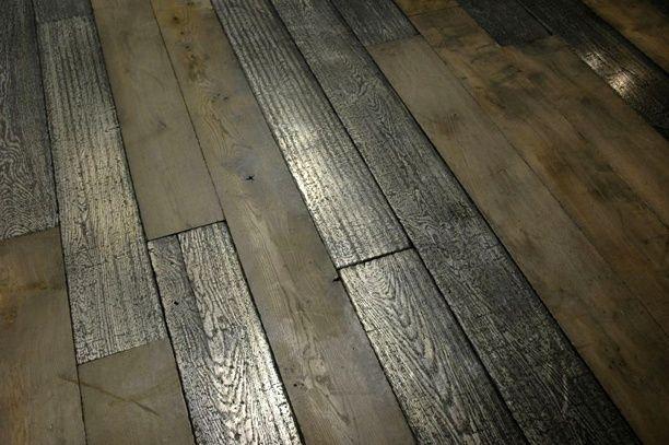 nickel finished & oak flooring