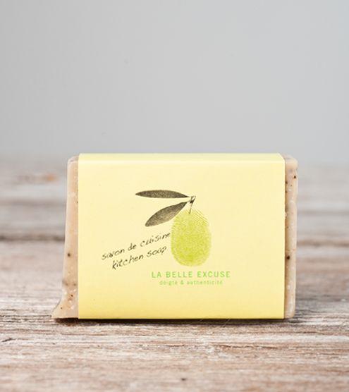 Savon cuisine (romarin citron café) 65 g – La belle excuse | magasin général