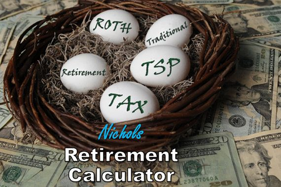 Retirement Calculator with Advanced Features by worksheets4hire