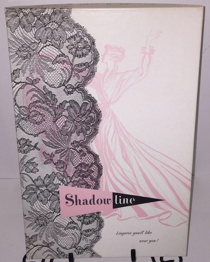 Vintage Shadowline 1950s Lingerie Slip Original Box Packaging - packaging slips