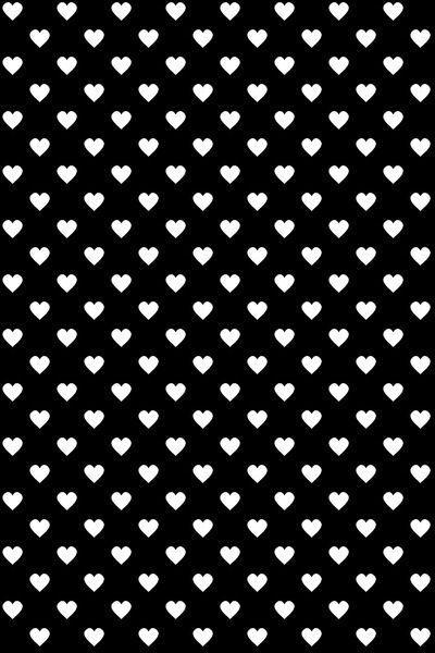Фон белые сердечки на чёрном фоне