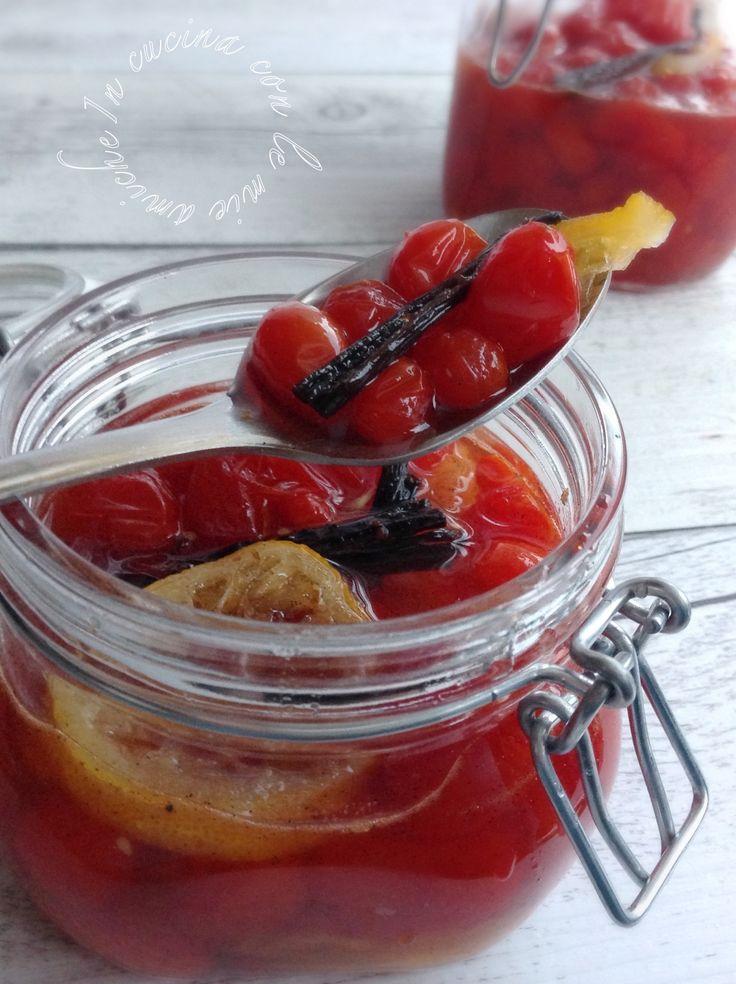 Mostarda di pomodorini alla vaniglia