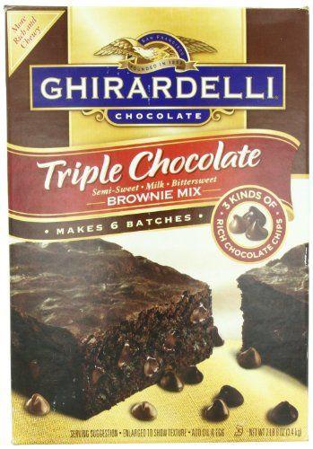 Ghirardelli Triple Chocolate Brownie Mix, Semi-Sweet, Milk, Bittersweet, 120 Ounce
