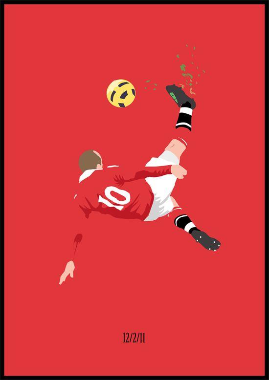 Illustration of Rooney's overhead kick v City