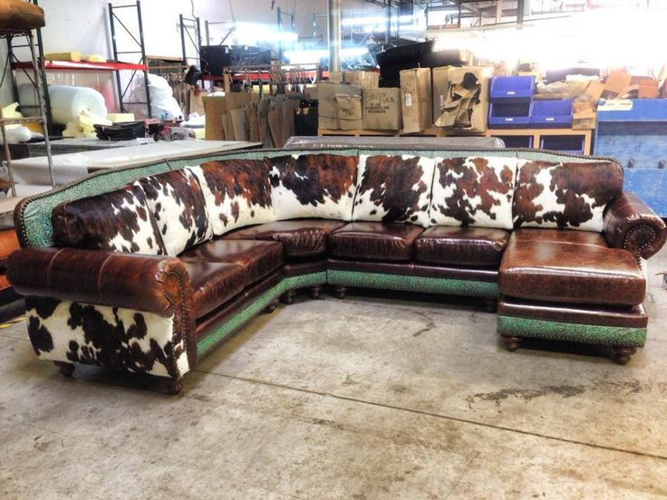 Cowhide Couch For The Home Pinterest Love This Cow