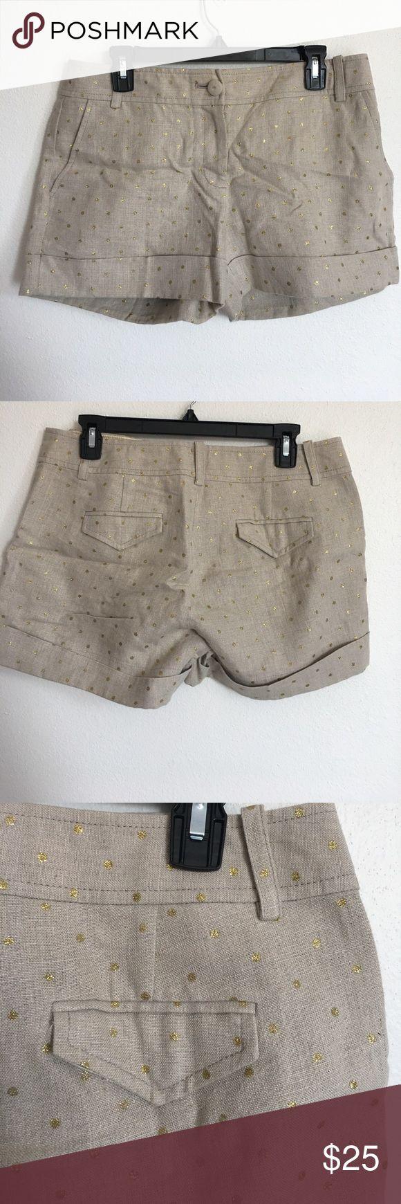 J Crew City Fit gold sparkle shorts J Crew City Fit gold sparkle shorts. J. Crew Shorts
