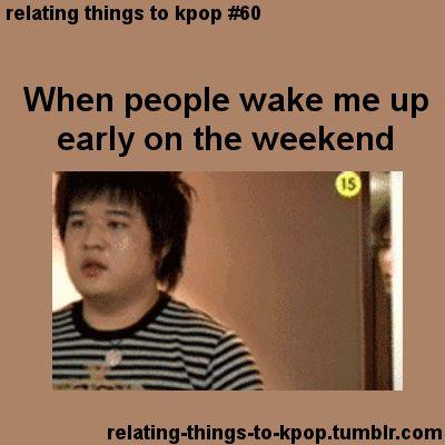 Kpop | Momentos Divertidos | Cuando me despiertan temprano en el fin de semana... ¡He gastado tomas mi energías en el transcurso de esta semana así que déjenme dormir!