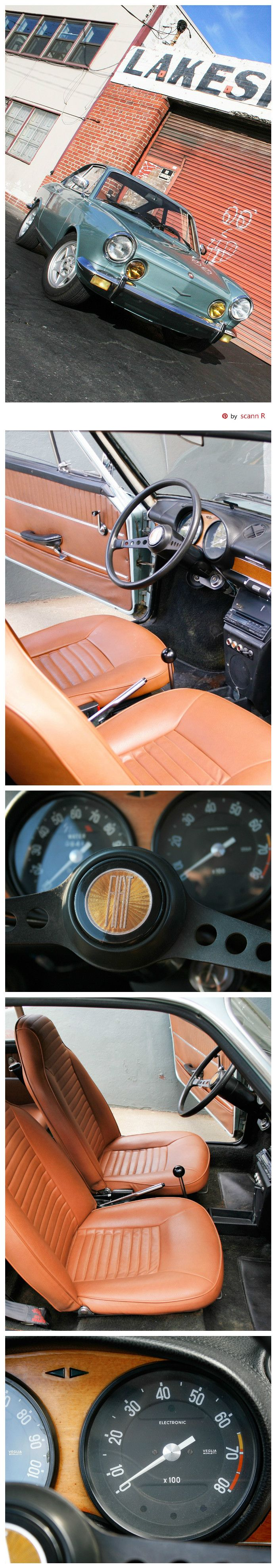 1971 Fiat 850 Sport Coupe (Series II) interior | Pin made by scann R