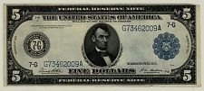 Series 1914 Chicago $5 Five Dollar Lincoln Federal Reserve Note FR #871  009A