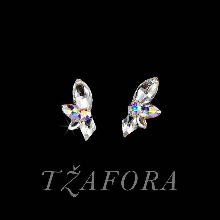 """No Strings Attached"" - Swarovski ballroom earrings. Ballroom dance jewelry, ballroom dance dancesport accessories. www.tzafora.com Copyright ©️️️️️️️ 2017 Tzafora."