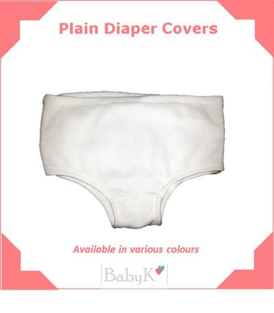 Plain Diaper Covers available in various colours
