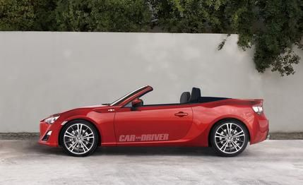 2014 Scion FR-S convertible rumored, rendered by Car and Driver.  Commence drooling now.Gt86 Convertible, Scion Frssubaru, Hot Cars, 2014 Scion, Gt86 Toyota, Toyota Gt86, Frs Convertible, Brz Convertible, Convertible 2014