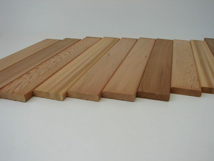 10x Western Red Cedar Profilbretter 580x84x18mm Zedernholz Zeder Grillbretter