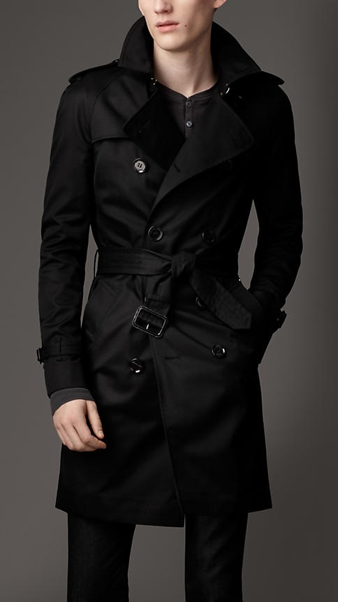 Mid-length cotton blend trench coat | Burberry London