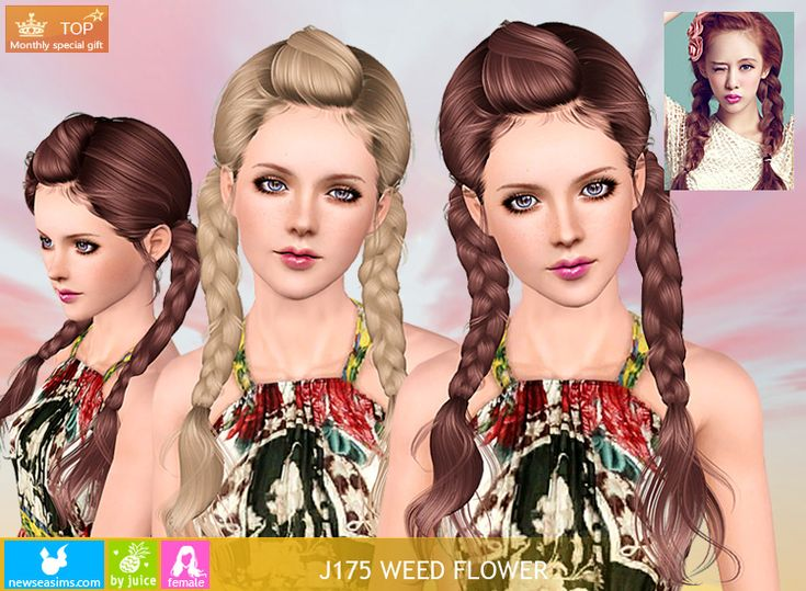 Hairstyles Braids Download: Flower Hairstyles, Sims