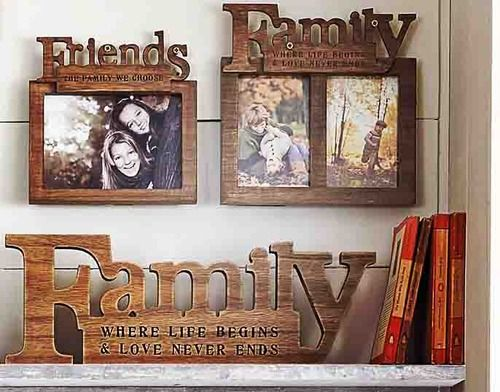 Next Homestyle: Family and friends frame set and family word block