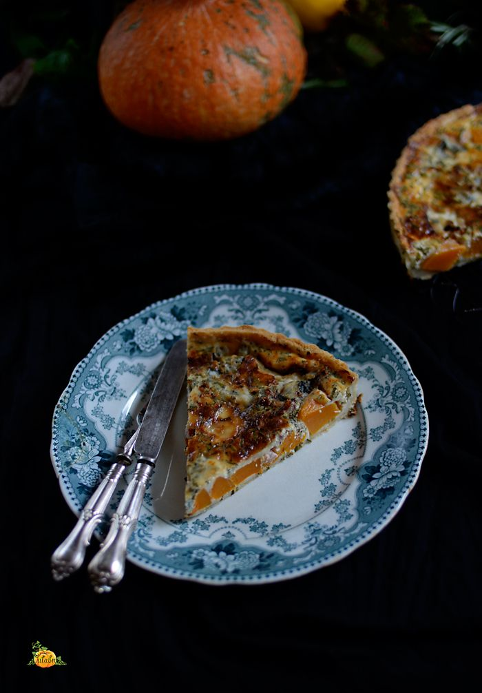 Lemon & Vanilla: Pumpkin, pancetta and Dolcelatte cheese tart / Tarte de abóbora, pancetta e queijo Dolcelatte.