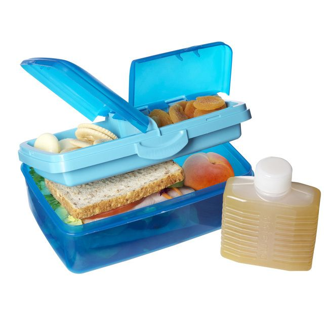 Sistema Plastic Klip It 4 Compartment Lunch Box 1.5L, Aqua Blue from Ocado
