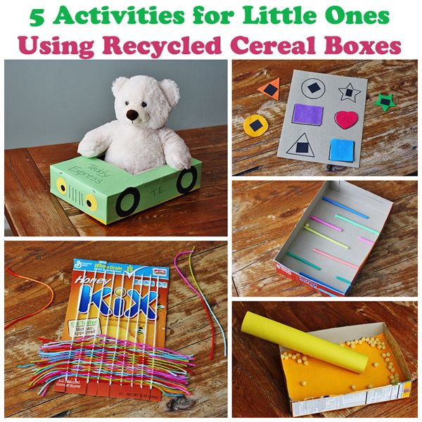 5 Cereal Box Projects for Toddlers @Amanda Snelson Formaro Crafts by Amanda