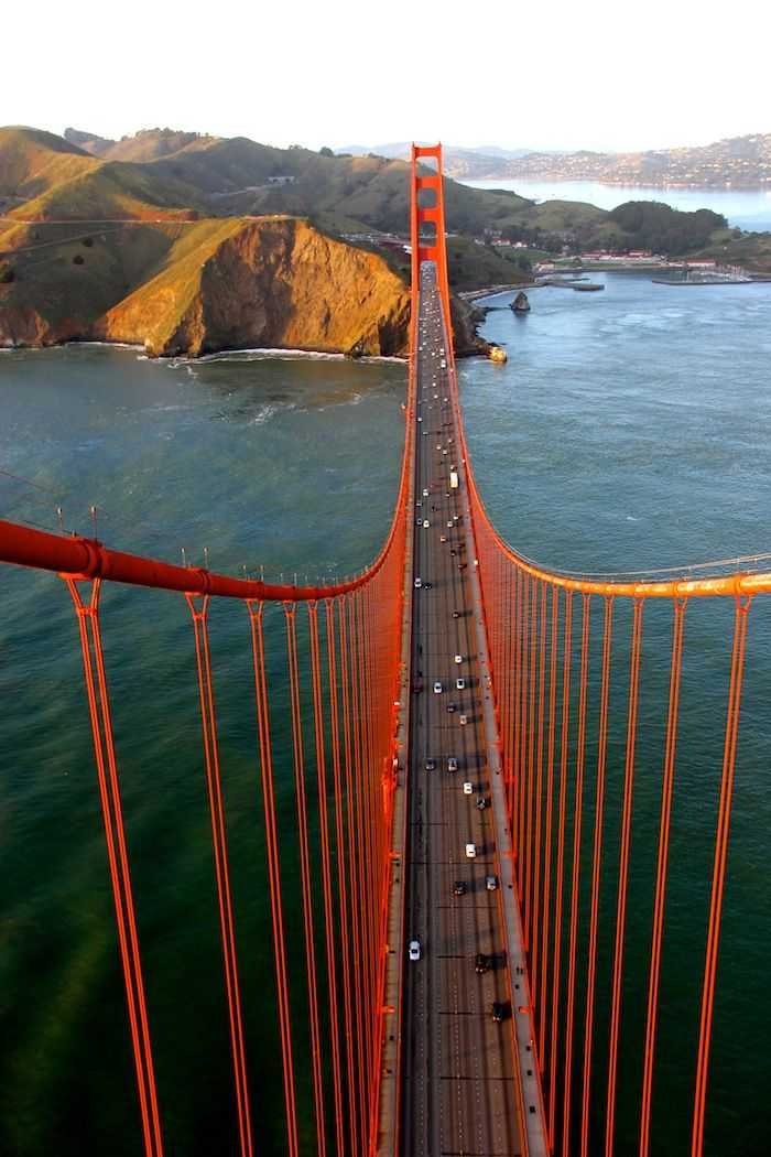 From the top of the Golden Gate Bridge.