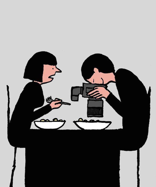 35 illustrations satiriques qui pointent du doigt notre addiction au numérique