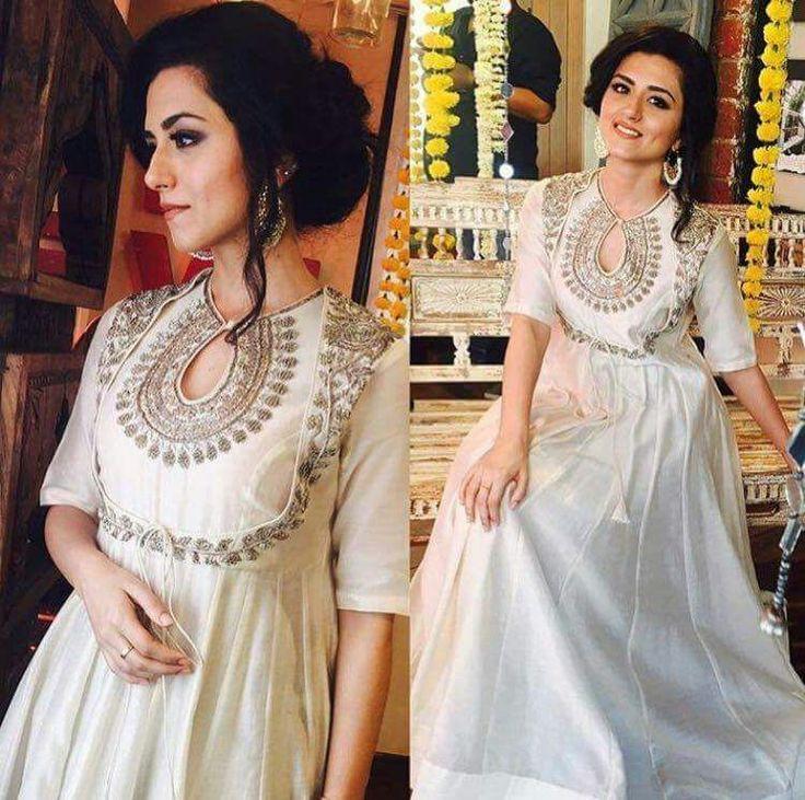Anarkali Designer Indian Salwar Kameez Party Suit Dress Pakistani Women - White #Unbranded #SalwarKameez #PartyWearBridalWeddingFestivalReception