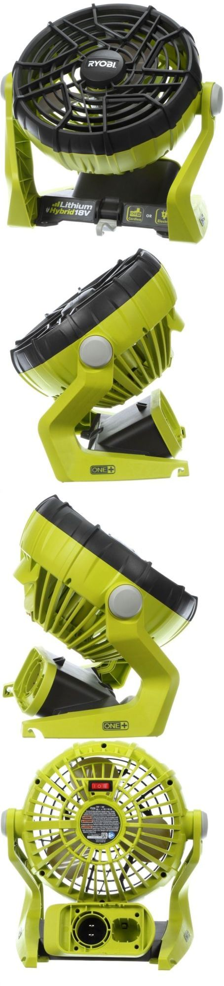 Other Power Tools 632: Ryobi One+ 18-Volt Hybrid Portable Fan Tool Only Electric Cordless Home Cooling -> BUY IT NOW ONLY: $51.16 on eBay!