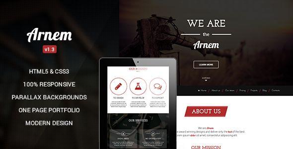 Arnem - Creative One Page Parallax Wordpress Theme