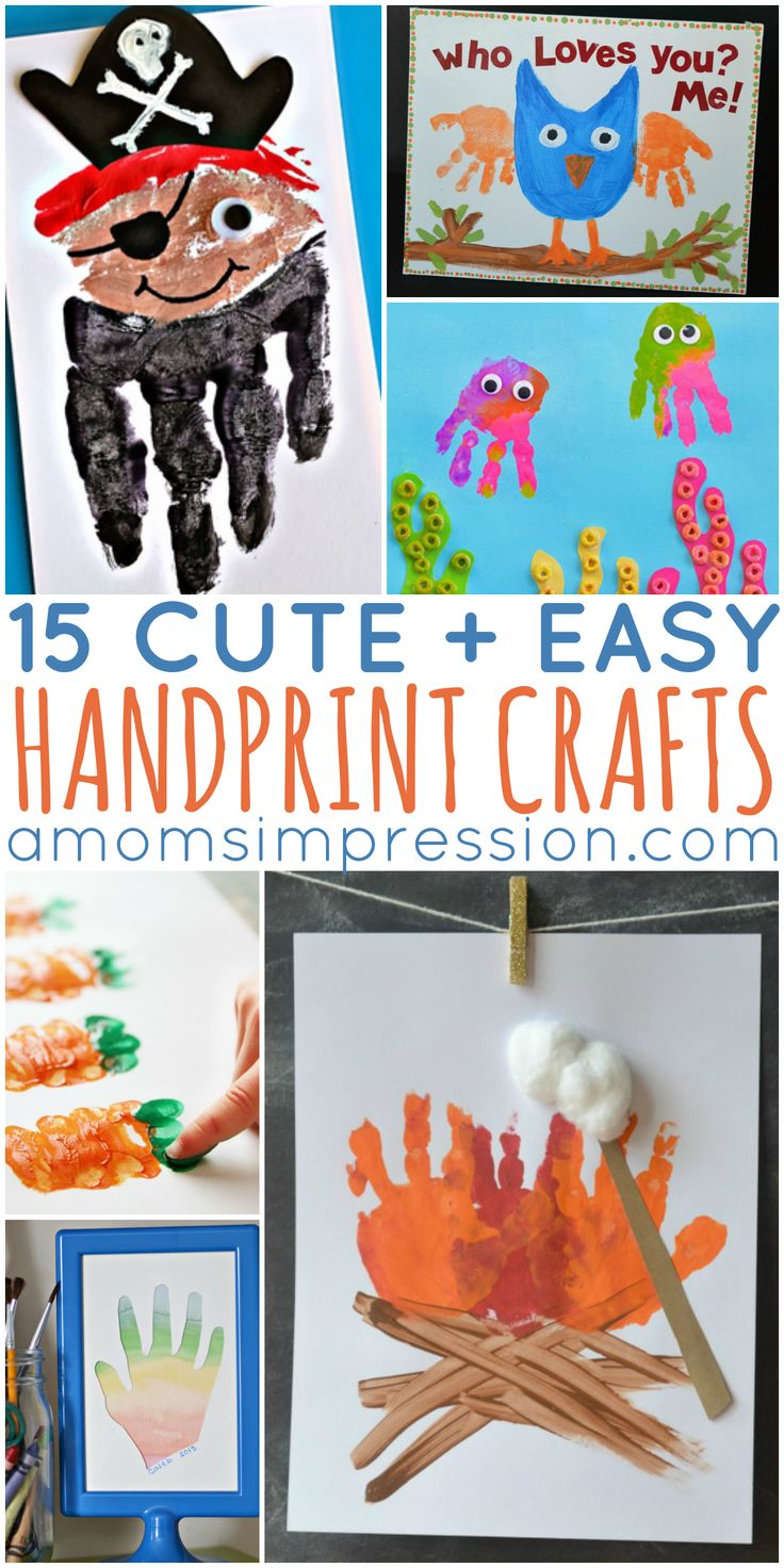 15 Cute and Easy Handprint Crafts