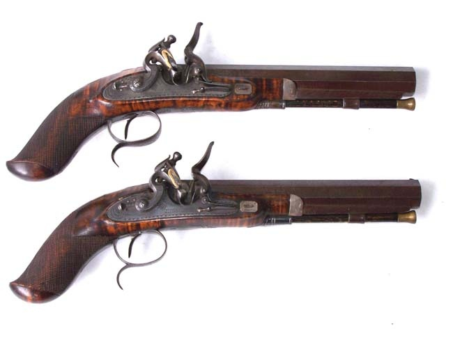 An Exceptionally fine pair of English Flintlock Duelling Pistols by William Smith of London circa 1806-1816. William Smith was appointed Royal Gunmaker to the Prince Regent in 1817, to King George IV in 1820 and shortly thereafter appointed Gunmaker to the Emperor of Russia.George, Historical Weapons, Appointment Royal, 19Th Century, Gentleman Life 18Th, Flintlock Duell, English Flintlock, Antiques Weapons, Fine Pairings