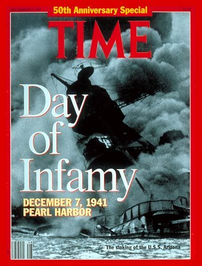 This was the cover of TIME Magazine on the 50th anniversary of the attack. Even fifty years after the Japanese attacked Pearl Harbor, America had not forgotten about it.