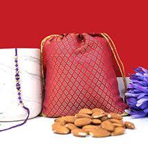 Rakhi with Almonds via Rakhibazaar.com #RakhiBazaar #OnlineRakhi #Shopping