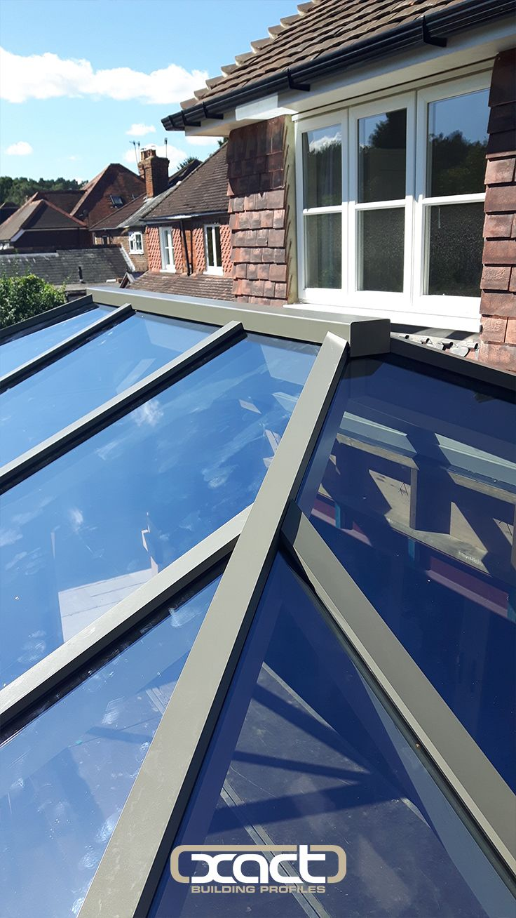 xact aluminium roof lantern in a bespoke ral colour with self cleaning glass