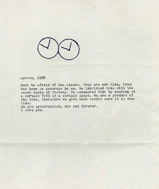 """Untitled"" (Perfect Lovers), 1991, Felix Gonzalez-Torres."