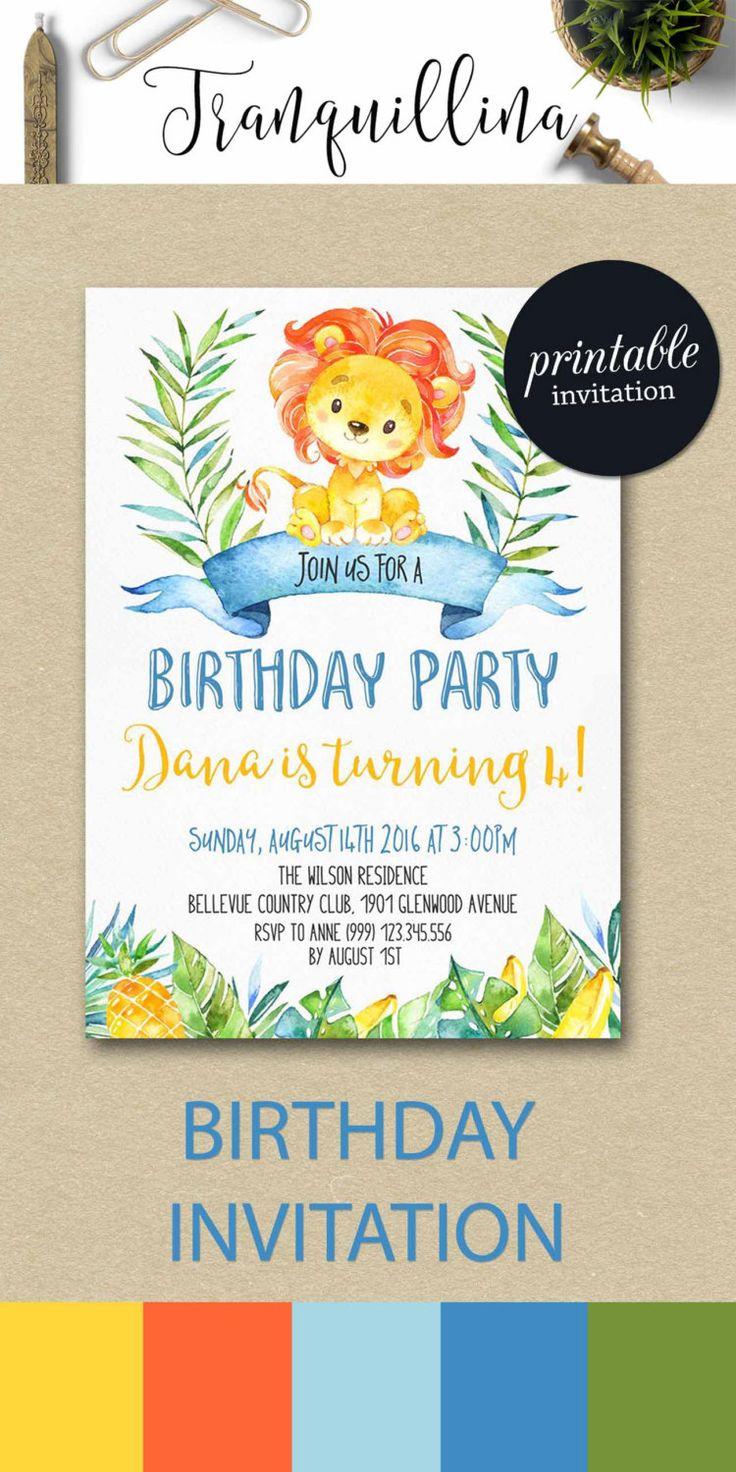 kids birhtday invitations
