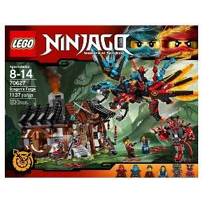 LEGO® Ninjago Dragon's Forge 70627:<br>Fly to Dragon's Forge with Kai and Nya to rescue their parents! Fly the Fusion Dragon to save Kai and Nya's parents from the Vermillion warriors and Buffmillion mech at Dragon's Forge. Includes six minifigures and Reversal Time Blade. Swoop to conquer the Dragon's Forge with Kai and Nya on the Fusion Dragon, rescue their parents from the Vermillion and claim the Reversal Time Blade. The Dragon&am...