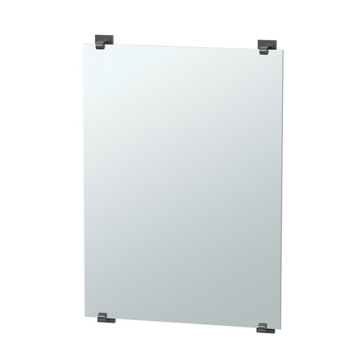 Gatco Elevate 32 in. x 22 in. Minimalist Frameless Mirror in Matte Black