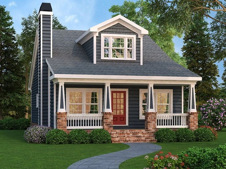 Craftsman house plan with 1853 square feet and 4 bedrooms for Small craftsman house plans with garage