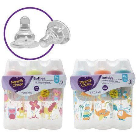 Parent's Choice BPA Free Bottles, 9 oz, 3 count - Walmart.com