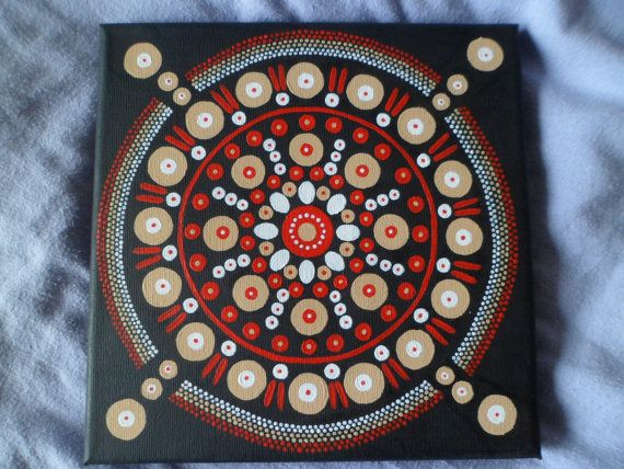 Circle pattern original painting inspired by by PotsAndPaintings