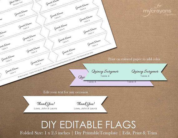Printable Blank Flag Template Use this diy editable