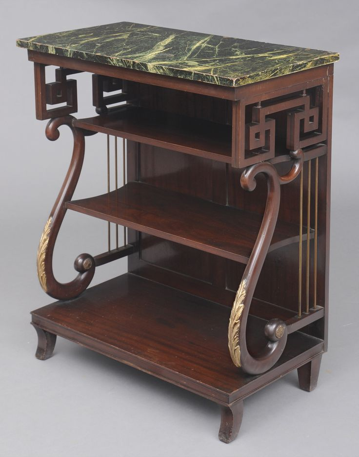 Susan Silver Antiques - Unusual English Late Regency Mahogany Pier or  Console Table with Faux Marble Top with Two Shelves, Circa - 13 Best Bookcases & Library Furniture Images On Pinterest