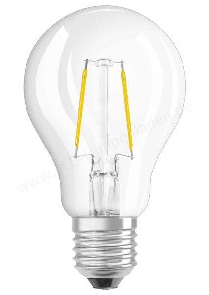 OSRAM LED STAR CLASSIC A 15 Filament klar Warm White E27 Glühlampe