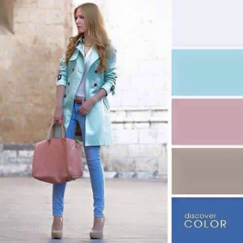 Light blue and dusty pink