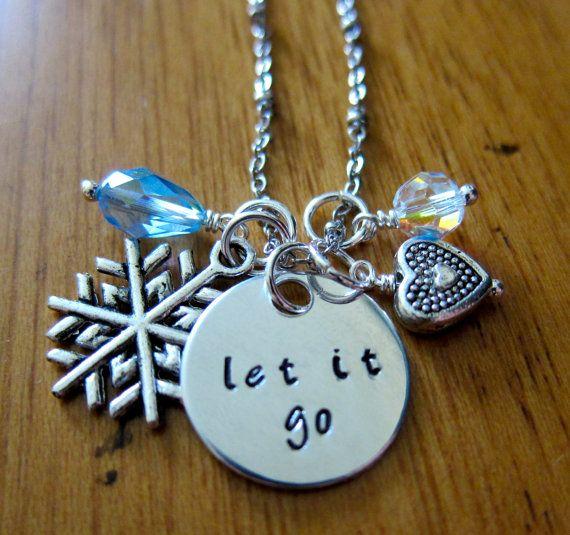 "Disney's ""Frozen"" Inspired Elsa ""Let It Go"" Necklace, Charm Pendant. Silver colored, Swarovski blue crystal, for women or girls. on Etsy, $20.00"