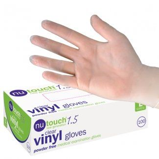 Size Medium - 500 Best Price Nutouch Disposable Powder-Free Vinyl Medical Grade Gloves. Nutouch the market leading manufacturer, whose gloves are used by healthcare professionals, are now on Special Offer - 5 Boxes of 100 Gloves. PBS Medicare http://www.amazon.co.uk/dp/B0045OOKVM/ref=cm_sw_r_pi_dp_q9LJwb0Q1KKER