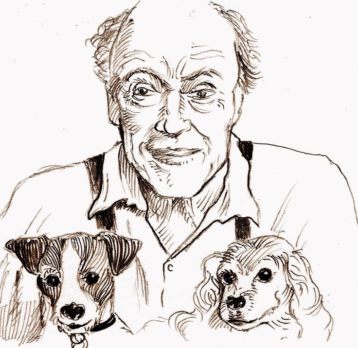 I love this image cause it shows that #RoaldDahl was a pet lover apart being an exceptional writer.