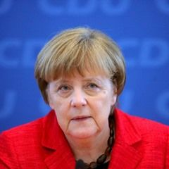 German Chancellor Angela Merkel during the CDU's Federal Board meeting