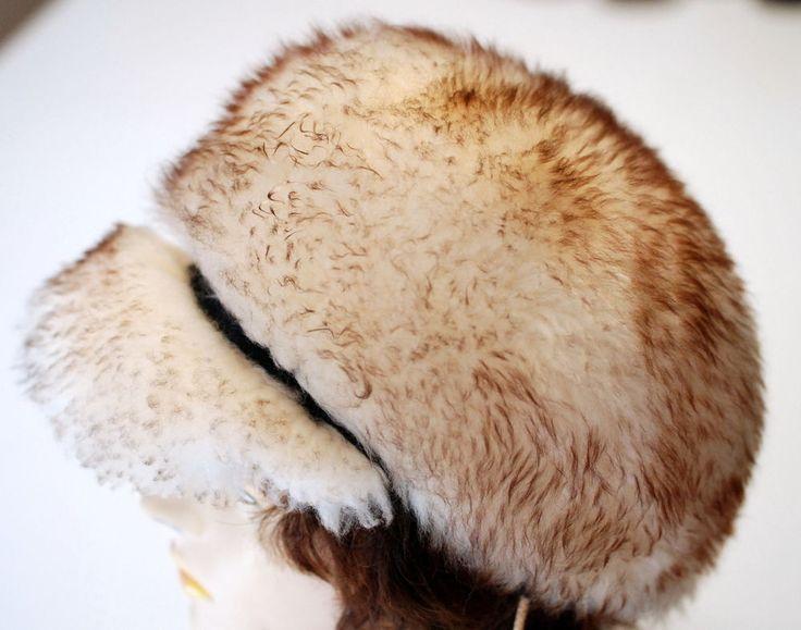Womens Hat Tuscan Lamb Skin Fur Italy Fashion Warm Fuzzy Winter Cap Vintage #Unbranded #Fur